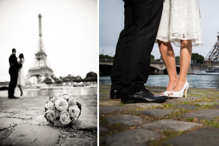 die schönsten Hochzeitsfotos nach der Hochzeit beim After-Wedding-Shooting mit Fotograf aus München in Paris