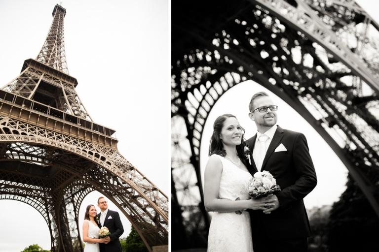 Als Hochzeitsfotograf aus München beim After-Wedding Brautpaar-Foto-Shooting am Eiffelturm in Paris